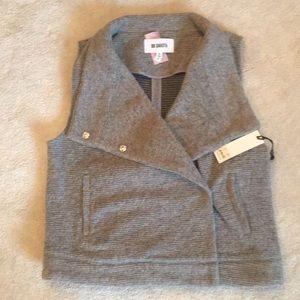 BB Dakota Grey Wool Vest-NWT